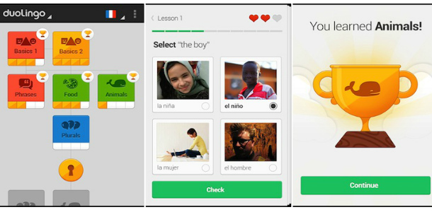 Изучай английский с Duolingo