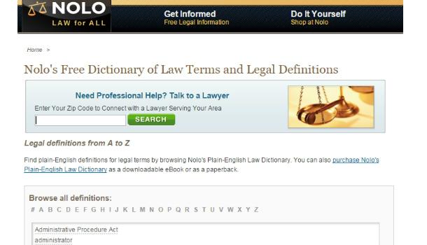 Юридический английский: онлайн-словарь